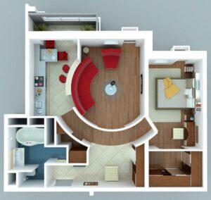 7 inspirasi desain & denah rumah minimalis satu lantai