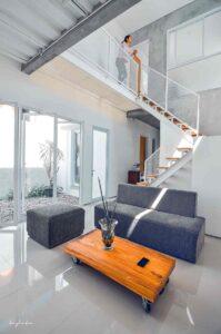 desain arsitektur rumah industrial minimalis yang simpel